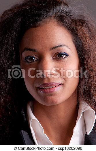 Beautiful woman self confident - csp18202090