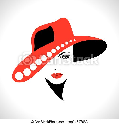 Beautiful woman silhouette - csp34697063