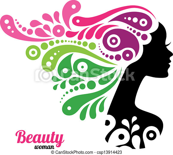 Beautiful woman silhouette - csp13914423