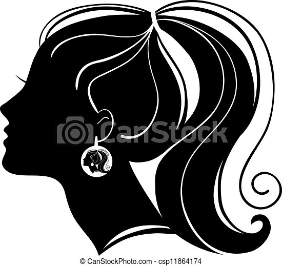 Beautiful woman silhouette - csp11864174