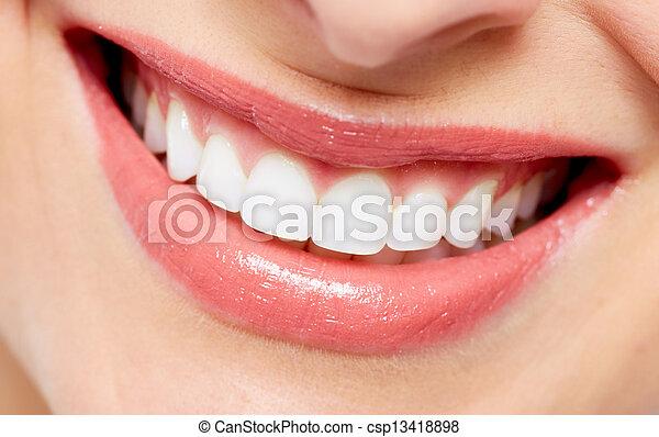 Beautiful woman smile. - csp13418898