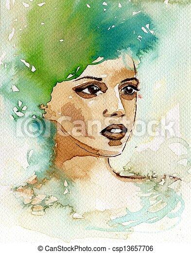 beautiful woman - csp13657706