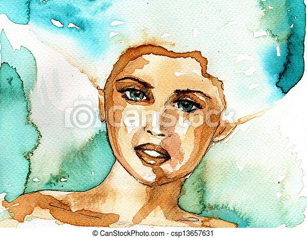 beautiful woman - csp13657631