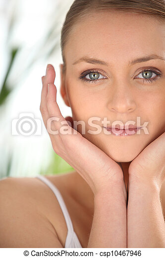 beautiful woman taking care of herself - csp10467946