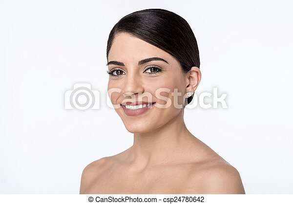 Beautiful woman with bare shoulders - csp24780642