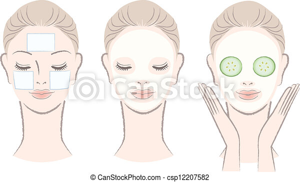 beautiful woman with face mask - csp12207582