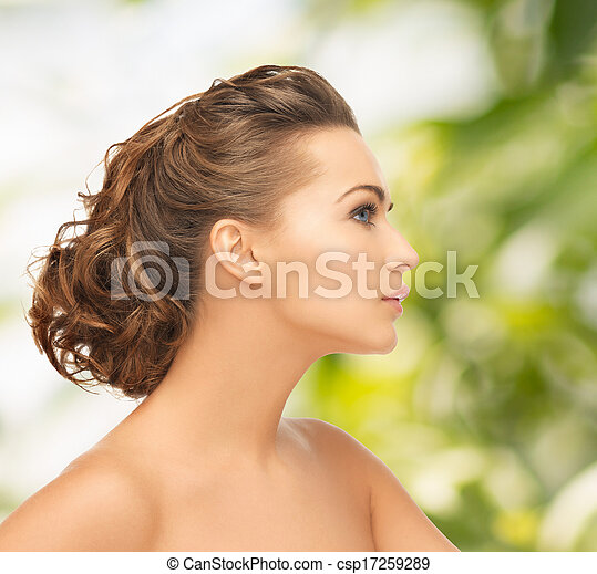 beautiful woman with updo - csp17259289