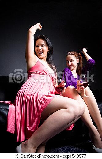 Beautiful women dance and - csp1540577