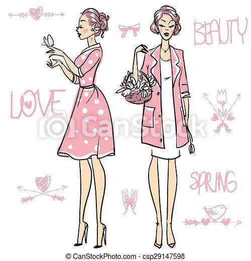 Beautiful women  - csp29147598