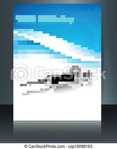 Beautiful world health day brochure syringe reflection medical symbol template vector - csp19098163