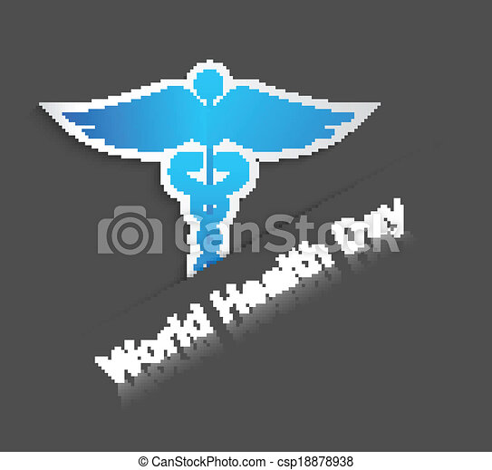 Beautiful World health day caduceus medical symbol creative colorful background vector - csp18878938