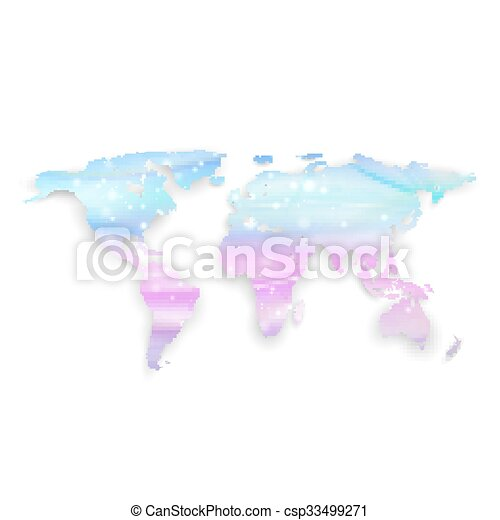 Beautiful world map with shadow on white background vector beautiful world map with shadow on white background vector illustration gumiabroncs Gallery