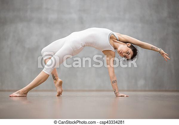 beautiful yoga advanced backbend camatkarasana posture