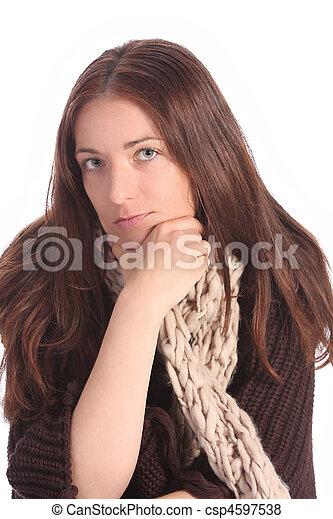 beautiful young a woman - csp4597538
