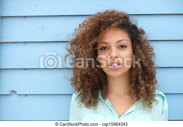 Beautiful young african woman - csp15964343