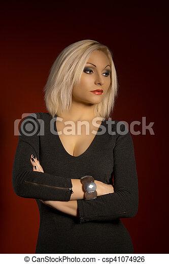 beautiful young blonde woman - csp41074926