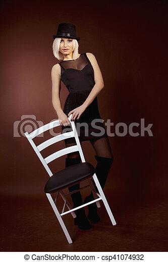 beautiful young blonde woman - csp41074932