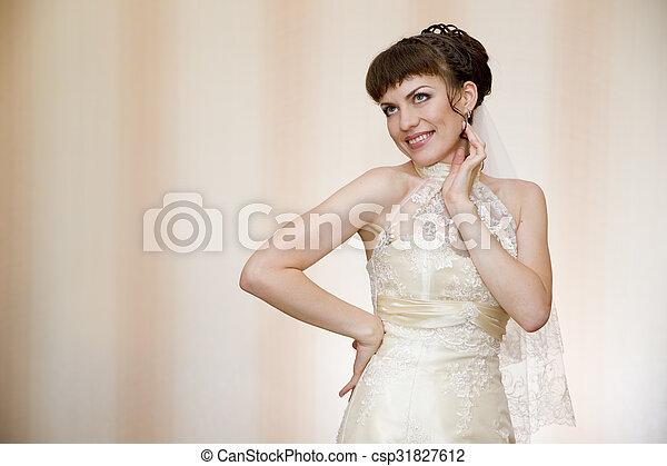 Beautiful young bride - csp31827612