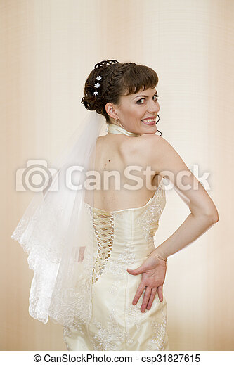 Beautiful young bride - csp31827615
