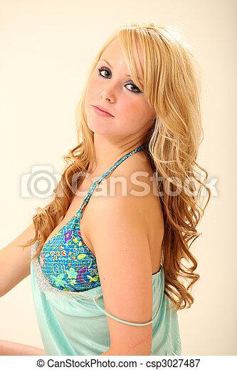 Beautiful Young Lingerie Model - csp3027487
