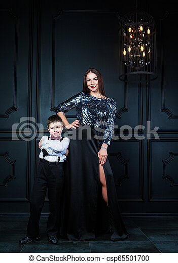 beautiful young mother with her son - csp65501700