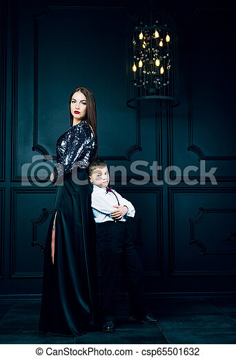 beautiful young mother with her son - csp65501632