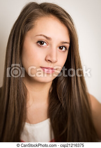 brunette teen facial brunette