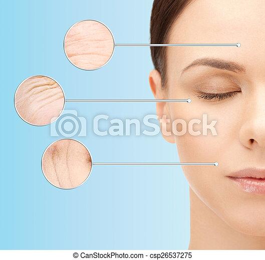 beautiful young woman face - csp26537275