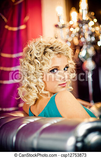 Beautiful young woman - csp12753873