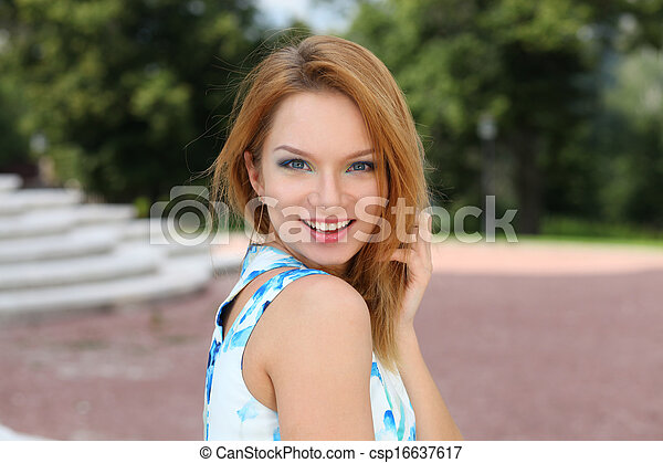 Beautiful young woman  - csp16637617