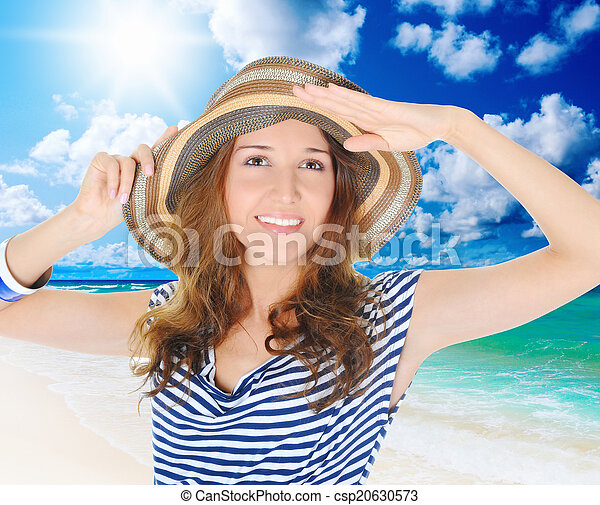 beautiful young woman - csp20630573