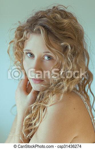 Beautiful young woman - csp31436274