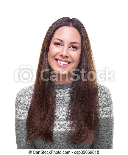 Beautiful young woman. - csp32069618
