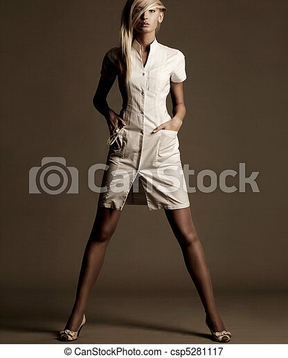 Beautiful young woman - csp5281117