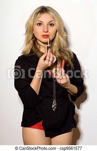 Beautiful young woman - csp9561577