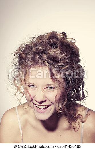 beautiful young woman - csp31436182