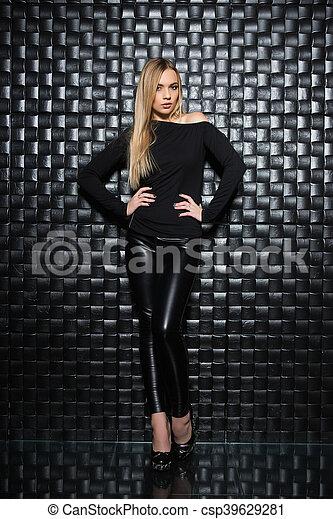 Beautiful young woman - csp39629281
