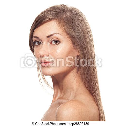 Beautiful young woman portrait - csp28803189