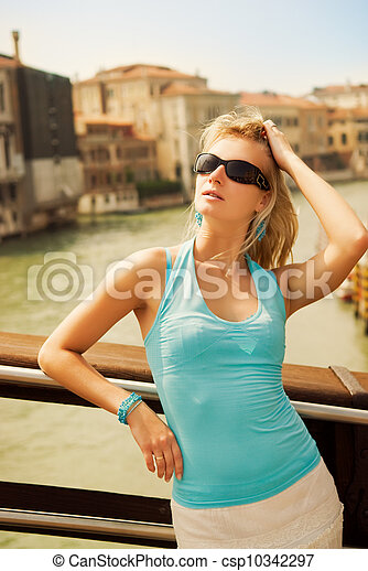 Beautiful young woman portrait - csp10342297