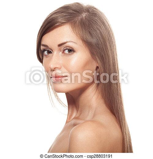 Beautiful young woman portrait - csp28803191