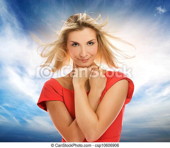 Beautiful young woman portrait - csp10606906