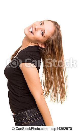 Beautiful young woman posing  - csp14352970