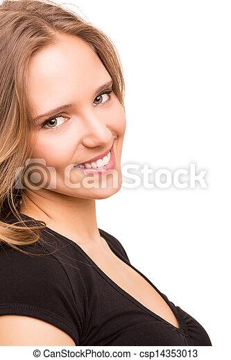Beautiful young woman posing  - csp14353013