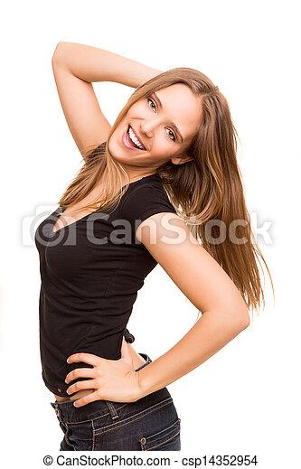 Beautiful young woman posing  - csp14352954