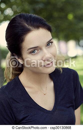 Beautiful young woman  - csp30130868