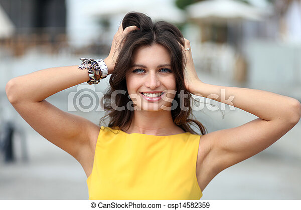Beautiful young woman - csp14582359