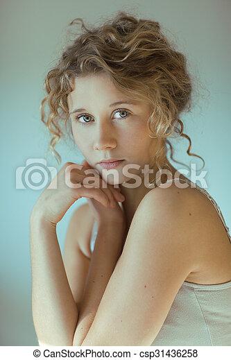 Beautiful young woman - csp31436258