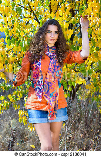 beautiful young woman - csp12138041