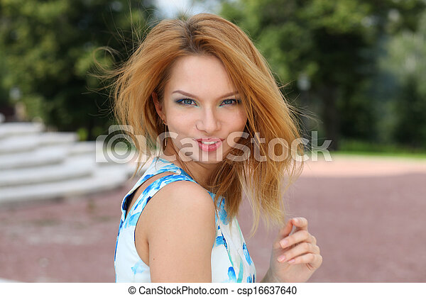Beautiful young woman  - csp16637640
