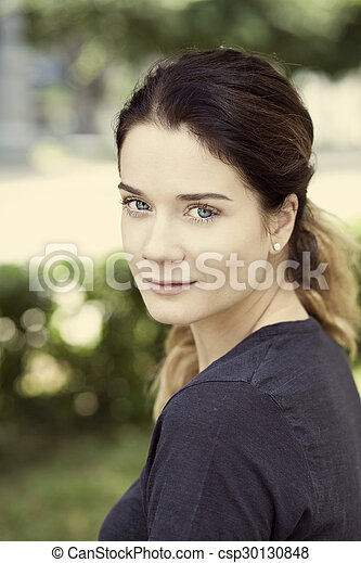 Beautiful young woman  - csp30130848